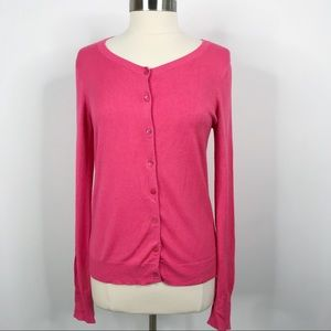 Express Button Front Cardigan Sweater Hot Pink L